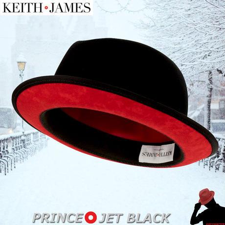キースアンドジェームズ★Keith & James PRINCE 【Jet Black】 Large with Travel Kit (Hat box)