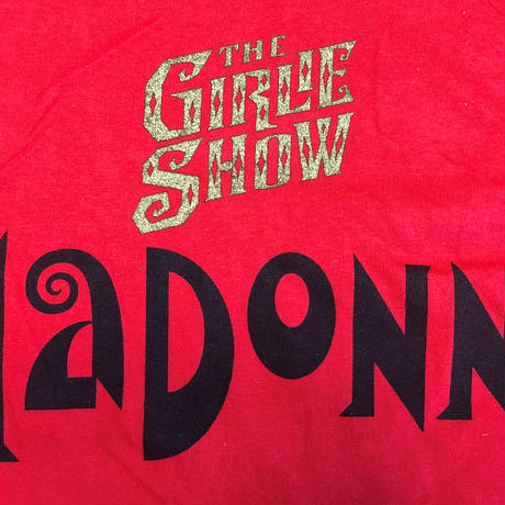 Madonna ★ Girlie Show World Tour 93' Tee L size RED