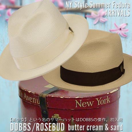 DOBBS ROSEBUD Milan Straw【butter cream】 59CM