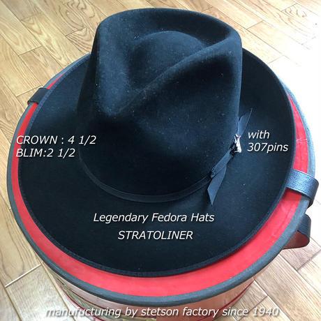 ステットソン・ストラトライナー・ブラック【ラビットファー】55CM