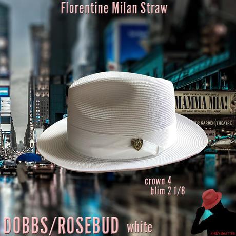DOBBS ROSEBUD Milan Straw【White】59CM