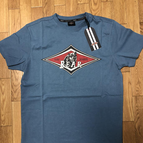ベアー・サーフボード  ジャストロゴ Tシャツ S サイズ 【ライトブルー】