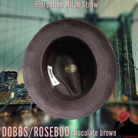 DOBBS ROSEBUD Milan Straw【Chocolate Brown】59CM