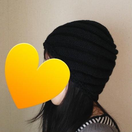 母の手編みニット帽子