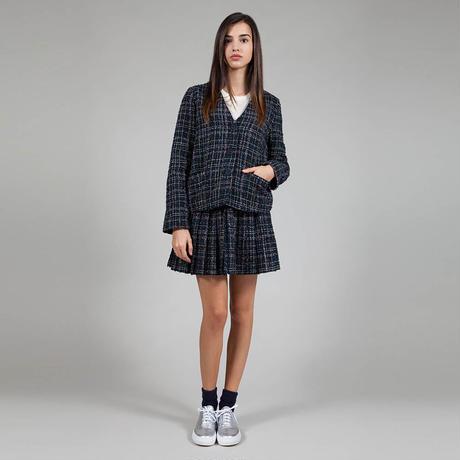 【SALE 】Lurex inserts and bouclè fabric jacket HJ8122