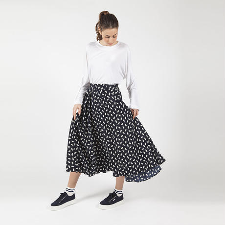 【SALE】Feather Printed Skirt HS7105