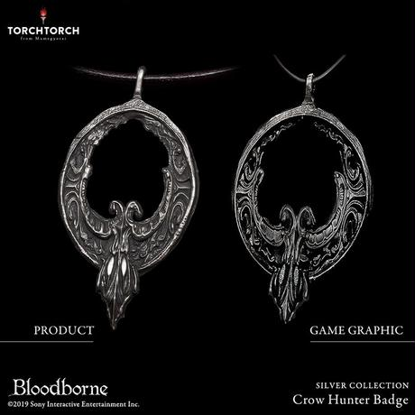 Bloodborne × TORCH TORCH SILVER COLLECTION/ Crow Hunter Badge