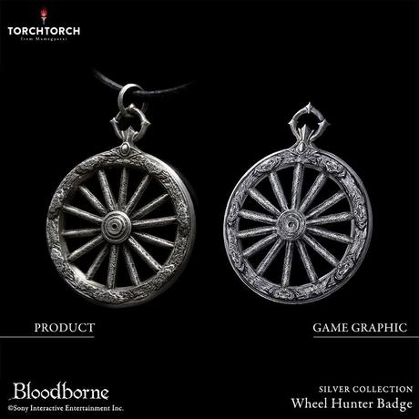 Bloodborne × TORCH TORCH SILVER COLLECTION/ Wheel Hunter Badge