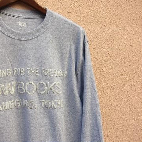 COW BOOKS / Longsleeve Logo T-shirts / Lightgray×Ivory