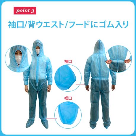 簡易防護服(50枚入り) 【全身を不織布で守ることができる防護服】