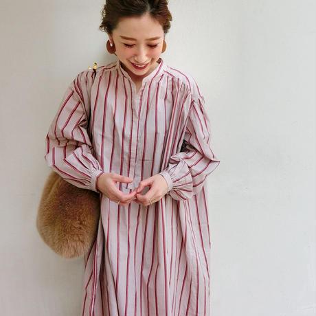 コットンシャツロングドレス