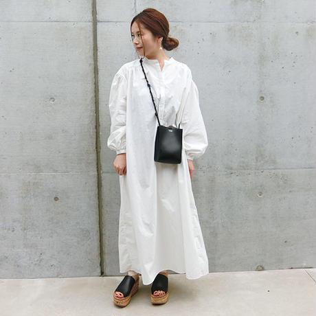 2019aw コットンシャツロングドレス
