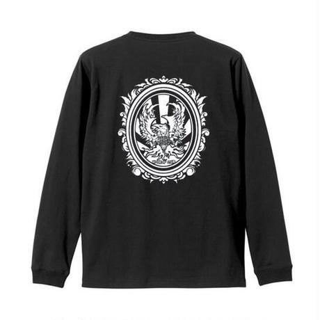 八咫烏 long sleeve shirt (B) White/Black
