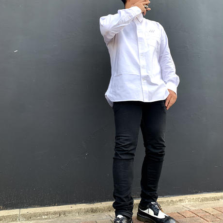 button-down shirt White