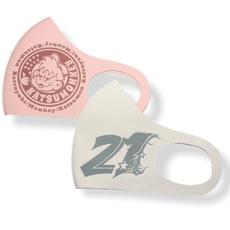 •2nd Design•中須賀克行選手使用  KATSUMONマスク pink/gray