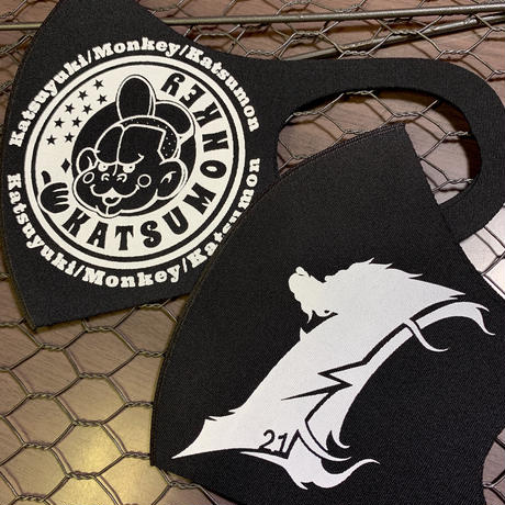 中須賀克行選手使用 KATSUMONマスク Black