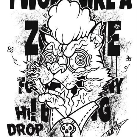 zombie cat hoodie 4colors