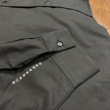 The Beginning of The END/open collar shirt