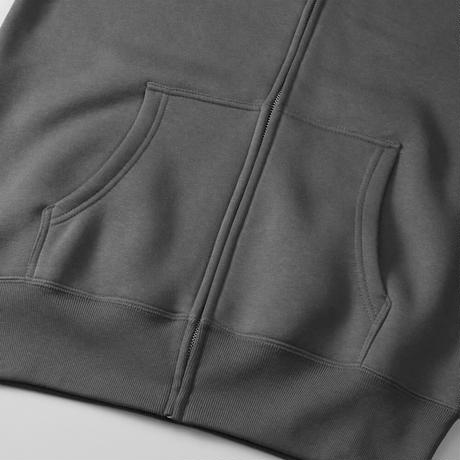 八咫烏 zip hoodie  Black/Gray