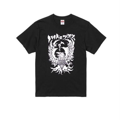 八咫烏T-shirt (A)  White/Black