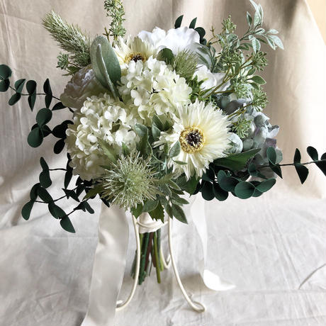 natural green bouquet     ナチュラルグリーンブーケ(ブートニア付き)
