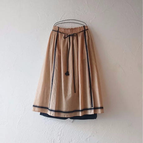 ANTIPAST Stripe Printed Cotton Skirt