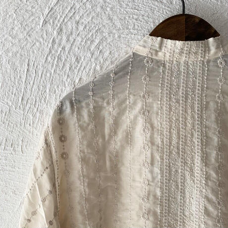ANTIPAST    Embroidery Fabric Blouse