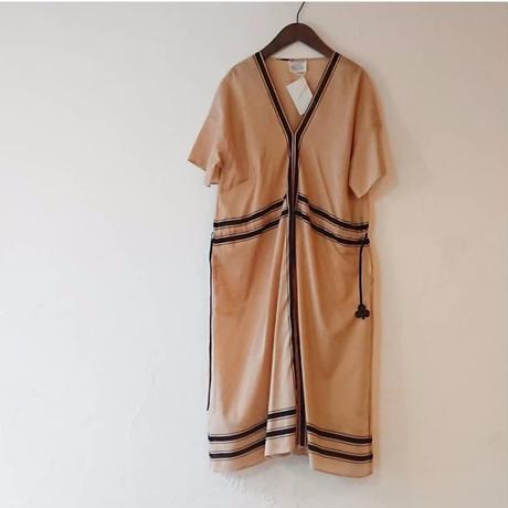 ANTIPAST Stripe Printed Cotton Dress