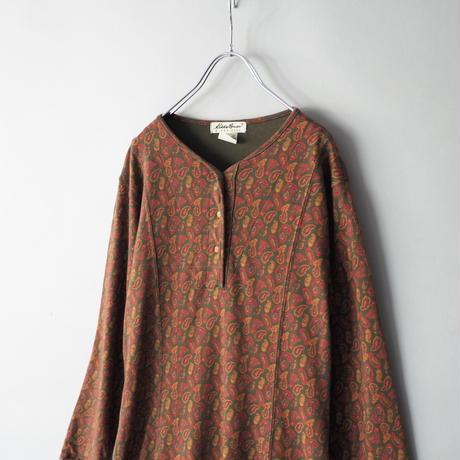 sweat fabric paisley pattern dress