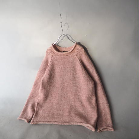 made in  Peru roll neck alpaca knit sweater/unisex