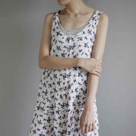 like a thermal fabric sleeveless dress