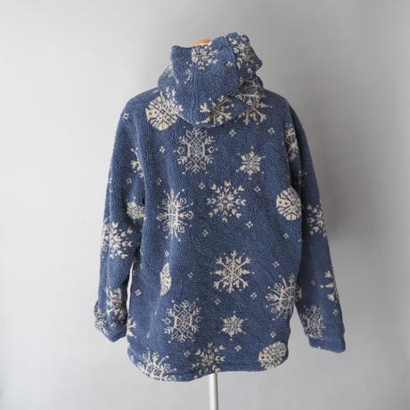 reversible nordic fleece⇄nylon hoodie  zip-up jacket/unisex