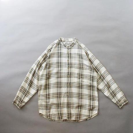 no collar checkered shirt