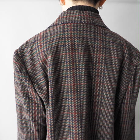 hound tooth pattern traditional jacket/for ladies'