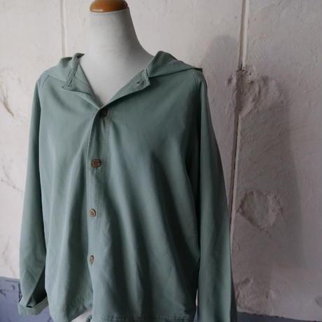 ladies' mint green  foodied shirt jacket