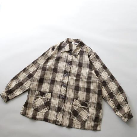 plaid check jacket/unisex