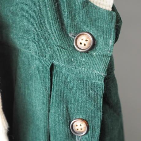 deep green corduroy jumper skirt