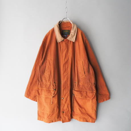 OLD GAP leather+cotton long length coverall