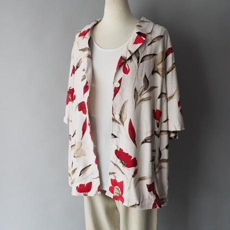 ladies'  linen & viscose shirt jacket