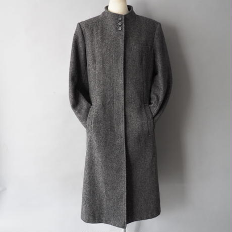 ladies' no collar wool coat