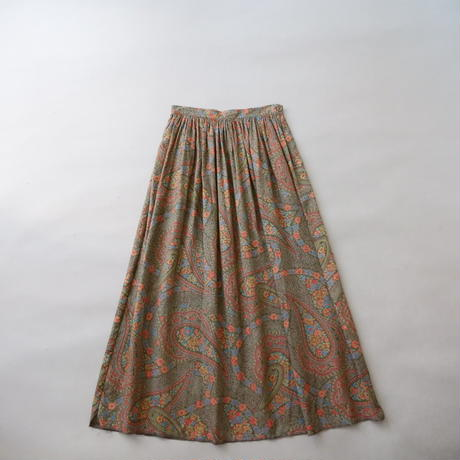 100% rayon paisley skirt