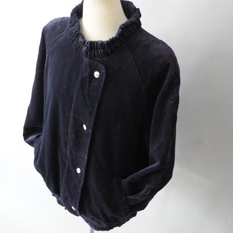 old Euro ladies'  stand collar corduroy jacket
