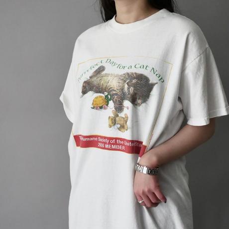 cat print  T-shirt/unisex