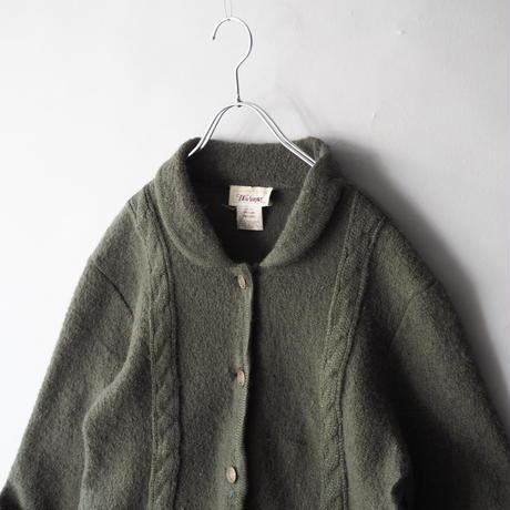 boiled wool  knit jacket/ladies'