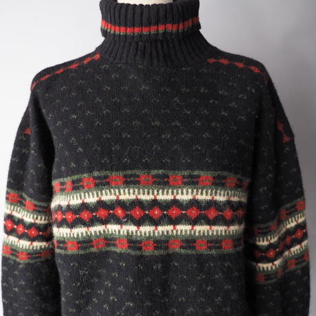 old LL Bean high neck knit sweater/ladies'