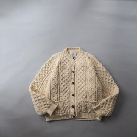 Ireland fisherman's hand made knit cardigan/ladies'
