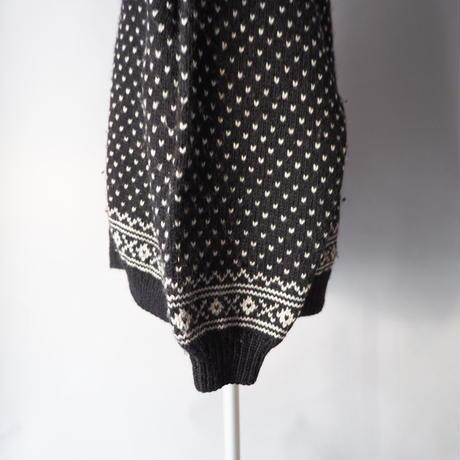 Tyrolean nordic&birds eye knit cardigan/unisex