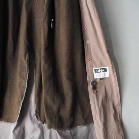 ladies' boa neck smooth fabric trench coat