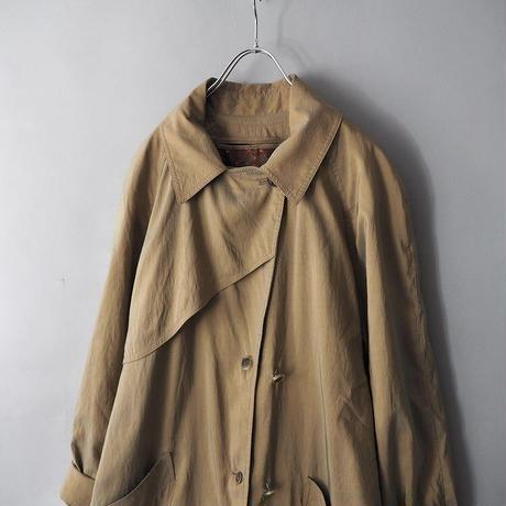 old LONDON FOG iridescent long coat/unisex