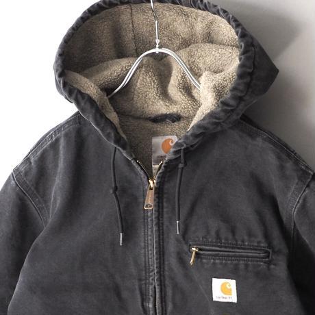 old Carhartt hoodied boa heavy jacket/ladies'